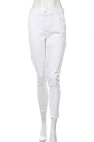 Дамски дънки Pieces, Размер XXL, Цвят Бял, 92% памук, 6% полиестер, 2% еластан, Цена 20,09лв.