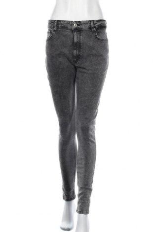 Γυναικείο Τζίν Pieces, Μέγεθος XL, Χρώμα Γκρί, 91% βαμβάκι, 7% πολυεστέρας, 2% ελαστάνη, Τιμή 27,83€