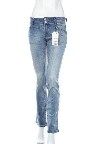Дамски дънки Q/S by S.Oliver, Размер S, Цвят Син, 93% памук, 6% полиестер, 1% еластан, Цена 25,82лв.