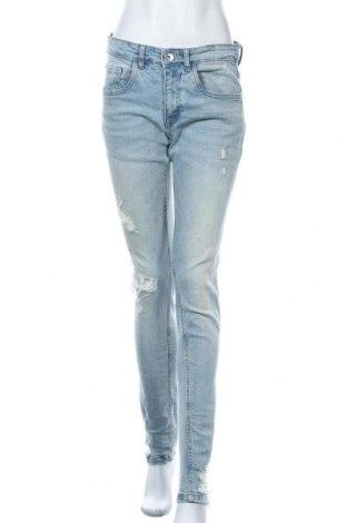 Дамски дънки Rebel, Размер M, Цвят Син, 98% памук, 2% еластан, Цена 51,75лв.