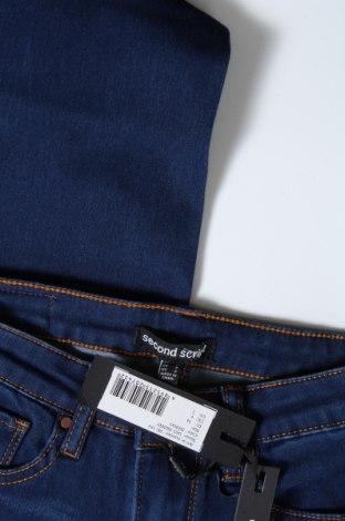 Дамски дънки Second Script, Размер XS, Цвят Син, 75% памук, 24% полиестер, 1% еластан, Цена 16,44лв.