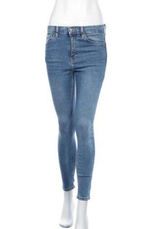 Дамски дънки Topshop, Размер S, Цвят Син, 93% памук, 7% еластан, Цена 19,87лв.