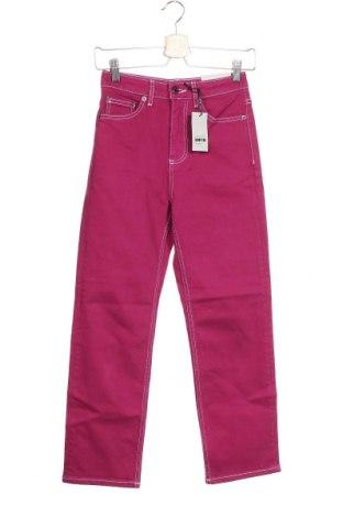 Дамски дънки Topshop Moto, Размер XXS, Цвят Розов, 99% памук, 1% еластан, Цена 27,88лв.