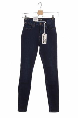 Дамски дънки Wrangler, Размер S, Цвят Син, 70% памук, 27% полиестер, 3% еластан, Цена 22,77лв.