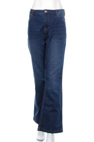 Дамски дънки Zizzi, Размер XL, Цвят Син, 75% памук, 22% полиестер, 3% еластан, Цена 51,75лв.