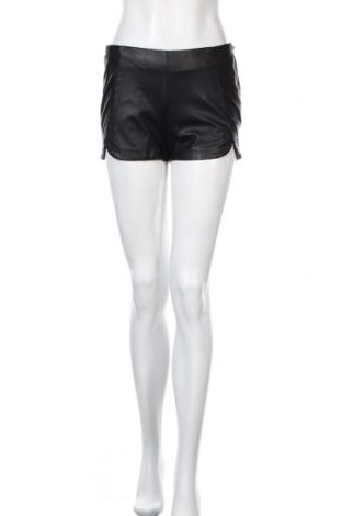 Γυναικείο κοντό δερμάτινο παντελόνι H&M, Μέγεθος S, Χρώμα Μαύρο, Δερματίνη, Τιμή 15,99€