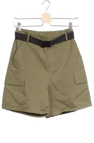 Γυναικείο κοντό παντελόνι Even&Odd, Μέγεθος XS, Χρώμα Πράσινο, Βαμβάκι, Τιμή 13,92€