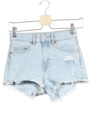 Γυναικείο κοντό παντελόνι H&M Divided, Μέγεθος XS, Χρώμα Μπλέ, 94% βαμβάκι, 5% πολυεστέρας, 1% ελαστάνη, Τιμή 13,64€