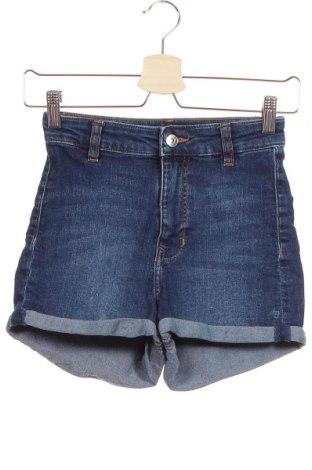 Γυναικείο κοντό παντελόνι H&M Divided, Μέγεθος XS, Χρώμα Μπλέ, 84% βαμβάκι, 15% πολυεστέρας, 1% ελαστάνη, Τιμή 14,29€