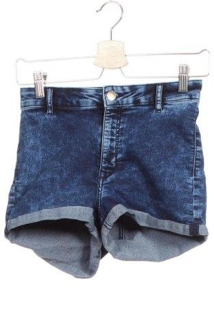 Γυναικείο κοντό παντελόνι H&M Divided, Μέγεθος XS, Χρώμα Μπλέ, 79% βαμβάκι, 19% πολυεστέρας, 2% ελαστάνη, Τιμή 12,86€