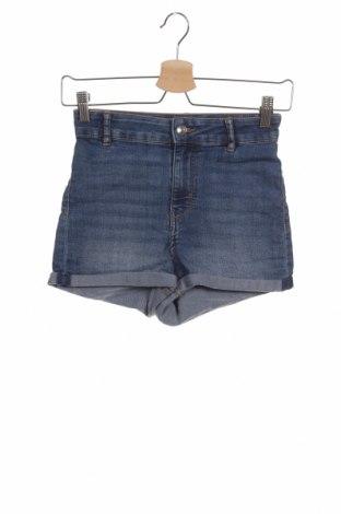 Γυναικείο κοντό παντελόνι H&M Divided, Μέγεθος XS, Χρώμα Μπλέ, 81% βαμβάκι, 18% πολυεστέρας, 1% ελαστάνη, Τιμή 9,94€
