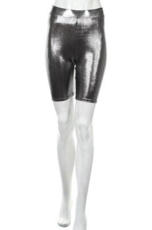 Γυναικείο κοντό παντελόνι H&M Divided, Μέγεθος S, Χρώμα Ασημί, 95% πολυεστέρας, 5% ελαστάνη, Τιμή 13,46€