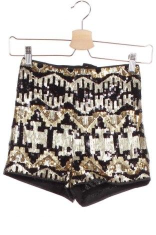 Γυναικείο κοντό παντελόνι H&M Divided, Μέγεθος XXS, Χρώμα Χρυσαφί, Πολυεστέρας, Τιμή 13,64€