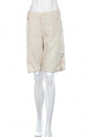 Дамски къс панталон Hot Options, Размер XL, Цвят Бежов, Лен, Цена 3,00лв.