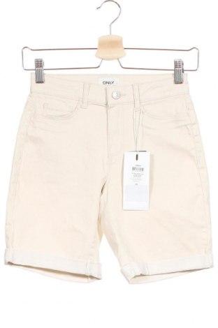 Pantaloni scurți de femei ONLY, Mărime XS, Culoare Bej, 78% bumbac, 19% poliester, 3% elastan, Preț 23,64 Lei