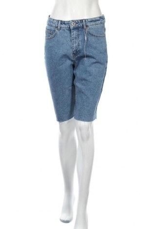 Γυναικείο κοντό παντελόνι Pieces, Μέγεθος M, Χρώμα Μπλέ, 99% βαμβάκι, 1% ελαστάνη, Τιμή 20,88€