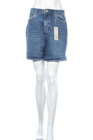 Γυναικείο κοντό παντελόνι Pieces, Μέγεθος L, Χρώμα Μπλέ, 98% βαμβάκι, 2% ελαστάνη, Τιμή 22,81€