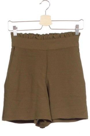 Pantaloni scurți de femei Vila, Mărime XS, Culoare Verde, Poliester, Preț 21,61 Lei