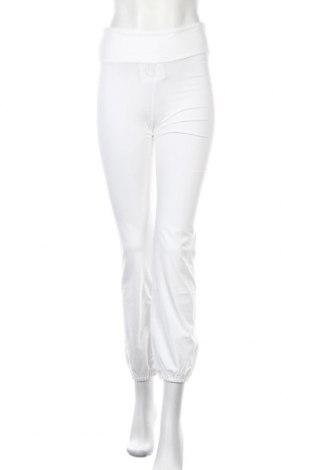 Дамско спортно долнище Deha, Размер L, Цвят Бял, 88% памук, 12% еластан, Цена 14,70лв.