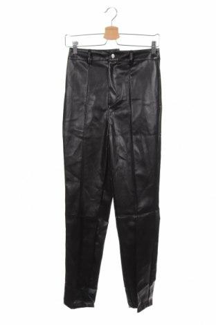 Дамски кожен панталон Missguided, Размер XS, Цвят Черен, Еко кожа, Цена 23,76лв.