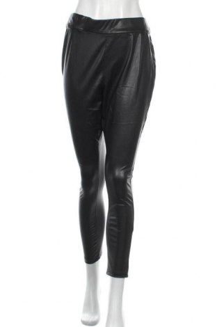 Дамски кожен панталон Simply Be, Размер XL, Цвят Черен, Еко кожа, Цена 17,70лв.