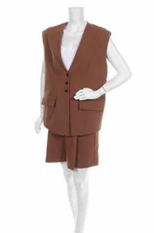 Costum de femei Zara, Mărime S, Culoare Maro, Poliester, Preț 136,18 Lei