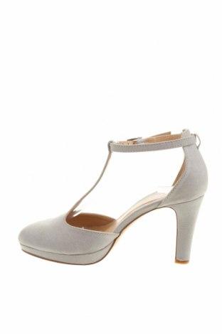 Дамски обувки Anna Field, Размер 38, Цвят Сив, Текстил, Цена 34,22лв.