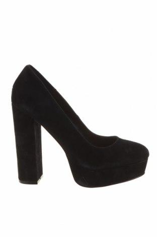 Дамски обувки Even&Odd, Размер 38, Цвят Черен, Естествен велур, Цена 40,56лв.