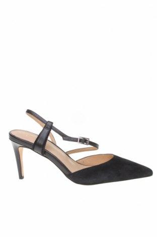 Дамски обувки Kiomi, Размер 40, Цвят Черен, Естествен велур, естествена кожа, Цена 33,32лв.