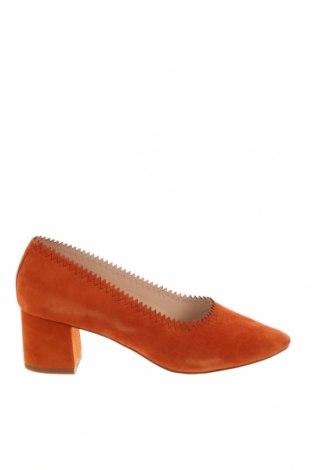 Дамски обувки Mango, Размер 37, Цвят Оранжев, Текстил, Цена 20,40лв.