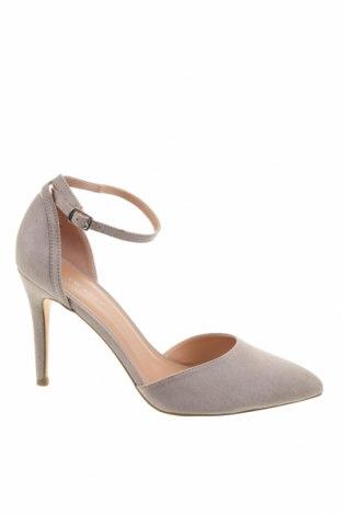 Дамски обувки New Look, Размер 40, Цвят Сив, Текстил, Цена 25,48лв.