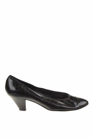 Дамски обувки Sergio Rossi, Размер 38, Цвят Черен, Естествена кожа, Цена 75,20лв.