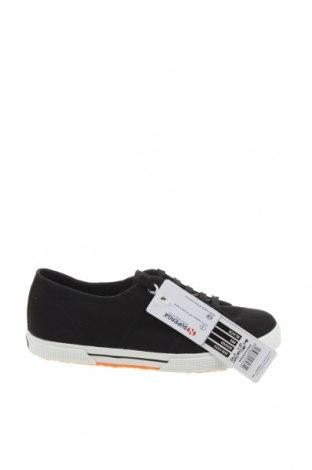 Дамски обувки Superga, Размер 37, Цвят Черен, Текстил, Цена 28,05лв.