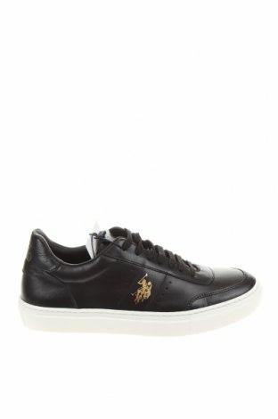 Γυναικεία παπούτσια U.S. Polo Assn., Μέγεθος 38, Χρώμα Μαύρο, Γνήσιο δέρμα, Τιμή 69,20€