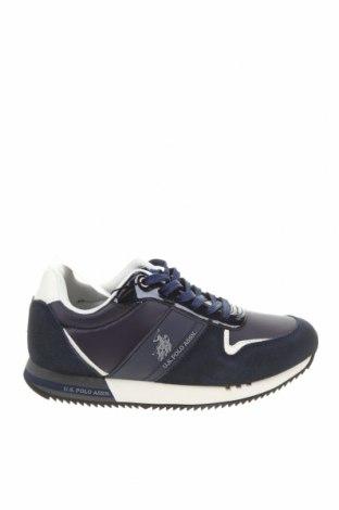 Γυναικεία παπούτσια U.S. Polo Assn., Μέγεθος 38, Χρώμα Μπλέ, Κλωστοϋφαντουργικά προϊόντα, φυσικό σουέτ, δερματίνη, Τιμή 69,20€