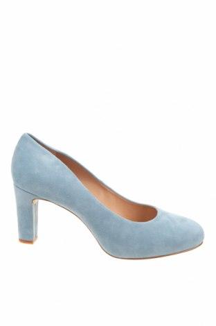 Дамски обувки Unisa, Размер 42, Цвят Син, Естествен велур, Цена 96,75лв.