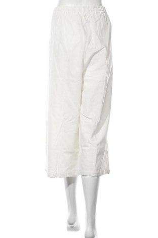 Дамски панталон, Размер 3XL, Цвят Бял, 5% лен, 45% памук, Цена 24,08лв.