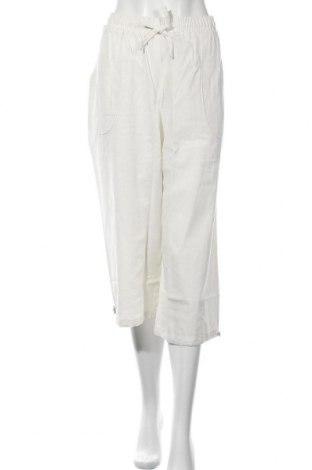 Дамски панталон, Размер XL, Цвят Бял, 55% лен, 45% памук, Цена 12,60лв.