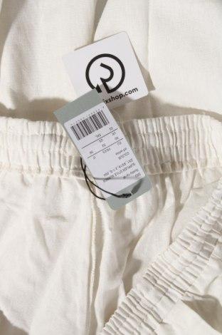Дамски панталон, Размер XXL, Цвят Бял, 55% лен, 45% памук, Цена 24,08лв.