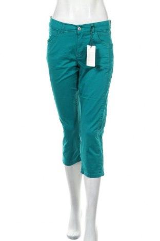 Дамски панталон Angels, Размер S, Цвят Зелен, 98% памук, 2% еластан, Цена 18,29лв.