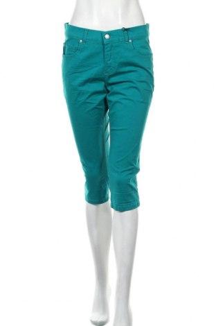 Дамски панталон Angels, Размер M, Цвят Зелен, 98% памук, 2% еластан, Цена 25,20лв.