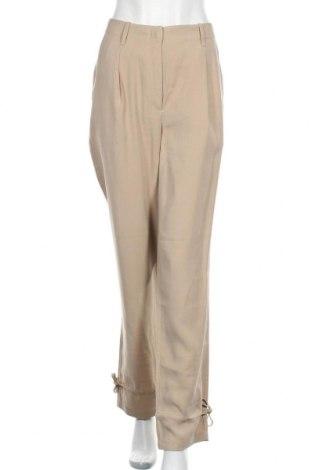 Дамски панталон Bruuns Bazaar, Размер L, Цвят Бежов, 90% вискоза, 10% полиестер, Цена 111,75лв.