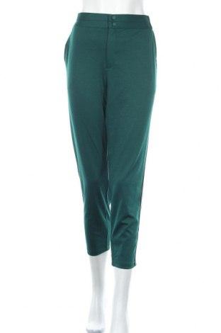 Дамски панталон Free Quent, Размер XL, Цвят Зелен, 73% полиестер, 24% вискоза, 3% еластан, Цена 27,65лв.
