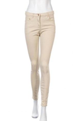 Дамски панталон H&M, Размер S, Цвят Бежов, 97% памук, 3% еластан, Цена 20,25лв.