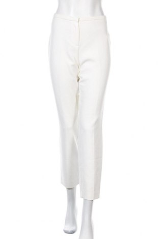 Дамски панталон Hallhuber, Размер XL, Цвят Бял, 62% полиестер, 34% вискоза, 4% еластан, Цена 22,80лв.