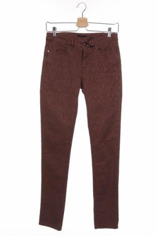 Дамски панталон IKKS, Размер S, Цвят Кафяв, 55% памук, 42% лиосел, 3% еластан, Цена 20,24лв.