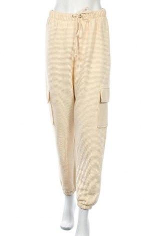 Дамски панталон Missguided, Размер S, Цвят Екрю, 65% полиестер, 35% памук, Цена 16,75лв.