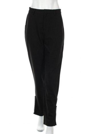 Дамски панталон Na-Kd, Размер M, Цвят Черен, 85% полиестер, 14% вискоза, 1% еластан, Цена 17,06лв.