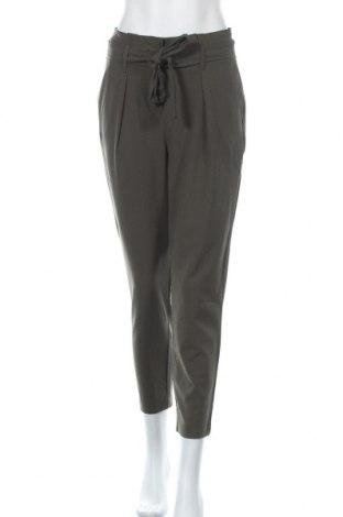 Дамски панталон ONLY, Размер S, Цвят Зелен, 62% полиестер, 33% вискоза, 5% еластан, Цена 15,63лв.