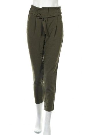 Дамски панталон ONLY, Размер S, Цвят Зелен, 97% полиестер, 3% еластан, Цена 15,32лв.